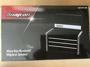 Snap On Tools Micro Box Wireless Bluetooth Speaker Shaped Like A Tool Chest Blk