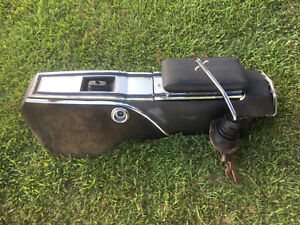1966 1970 Mopar B Body 4 Speed Console Shifter Boot Top Plate Storage Used