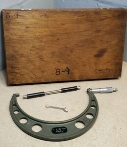 Mitutoyo 8 9 No 103 220 Carbide Tipped Micrometer W 8 Standard 8 To 9