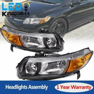 Headlights For 2006 2007 2008 2009 2010 2011 Honda Civic Coupe 2dr Headlamp Pair