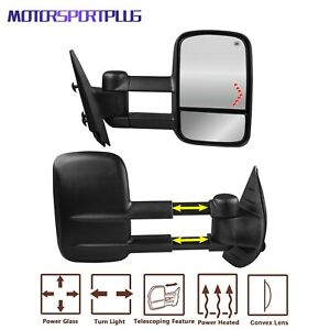 Power Heated Towing Mirrors Turn Signal For 07 13 Chevy Silverado Tahoe Suburban