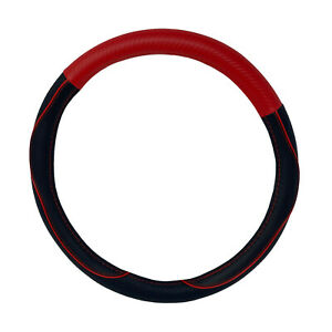 New Black And Red Carbon Fiber Steering Wheel Cover By Cpr 14 5 15 5