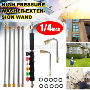 8pc 1 4 High Pressure Washer Extension Spray Wand Lance 8xnozzle 10xo ring