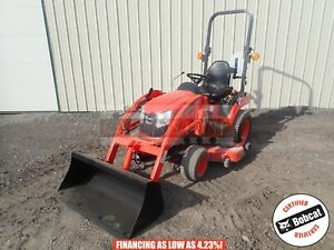 2017 Kioti Cs2210 Compact Loader Tractor 4x4 Belly Mower 3 Pt 540 Pto 57 Hours