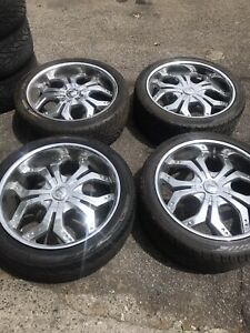 22 Inch Dvinci Wheels Rims And Tires 5 Lug Truck Or Suv Super Deal