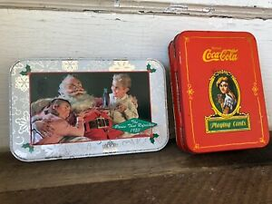 Vintage Coca Cola Playing Cards in Tin Box