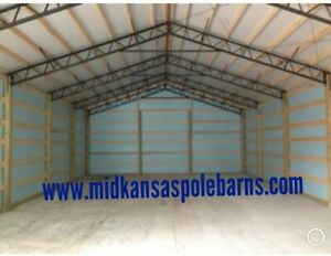 7 40 Steel Trusses Pole Barn For A 40x60 Pole Barn