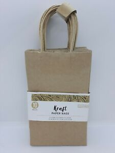 10 Pack Colorbok Kraft Paper Bags 5 25 X 8 38 X 3 25