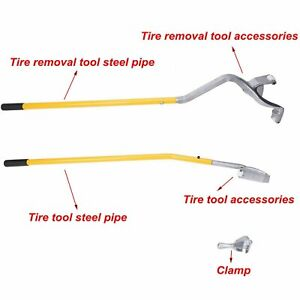 3pcs Tire Changer Tire Mount Demount Tool Tools Tubeless Truck Extra Bead Keeper