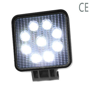 2pcs 12v 24v 27w Led Square Work Spot Light Floodlight For Offroad Truck Suv Atv