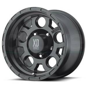 4 new 17 Xd Xd122 Enduro Wheels 17x9 5x5 5x127 6 Matte Black Rims