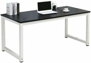 Wood Computer Desk Pc Laptop Table Study Workstation Home Office Furniture Black