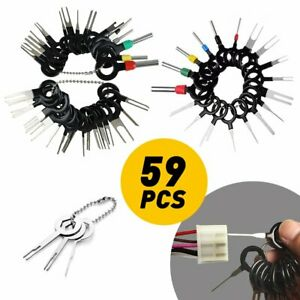 59x Car Electrical Terminal Plug Wiring Connector Pin Extractor Removal Key Tool