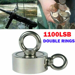 1100lbs 500kg Double Sided Strong Neodymium Fishing Magnet Pulling Force