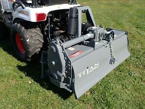 Titan Ul48 Rotary Tiller For Compact Tractors 48 Width 540 Pto 3 Pt Hook Up