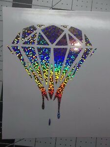 Dripping Diamond Sticker Decal Holographic