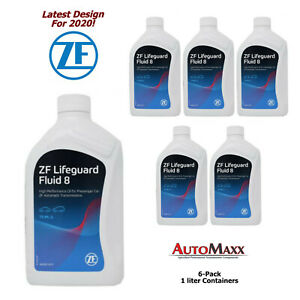 Zf Lifeguard 8 Transmission Fluid 6 Pack 1 Liter Jugs For Zf8hp45 8hp50 70 2010