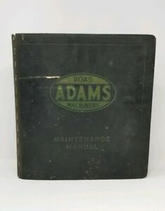 Adams Motor Road Grader Maintenance Service Repair Shop Manual Book 1940 1957