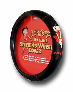 New Betty Boop Skyline Steering Wheel Cover Universal Fit 14 5 15 5 Car