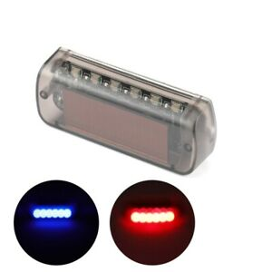 Hot Car Solar Power Led Dummy Alarm Warning Security Anti Theft Flashing Light