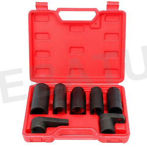7pcs O2 Oxygen Sensor Socket Wrench 22mm 27mm 29mm Auto Repair Installer Tool
