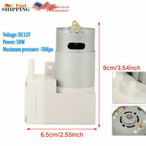 12v Vacuum Micro pump High Pressure Suction Diaphragm Pump Engineering Usa