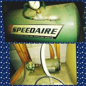 Vtg Speedaire Direct Drive Air Compressor