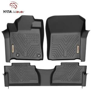 Yitamotor Floor Mats Liner For 2014 2020 Toyota Tundra Crewmax Cab All Weather
