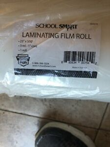 School Smart Laminating Film Roll 25 Inches X 500 Feet 3 Mil Thick High Gloss
