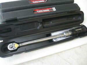 Steelman 301497 3 8 Drive Micro Adjustable Torque Wrench 10 100 Ft Lbs W Case