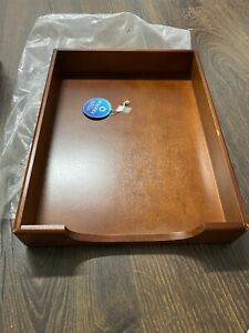 Rodolex Letter Tray Wood Brown