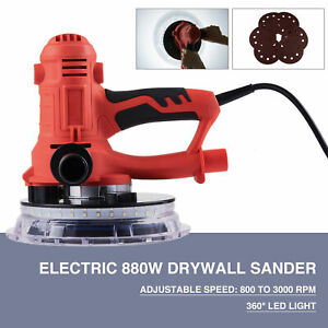 880w Electric Drywall Sander W Automatic Vacuum System 6 Speeds And Led Light