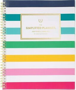 Simplified Emily Ley 2020 2021 Academic Year Weekly monthly Planner 9 X 11