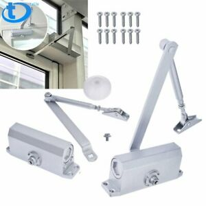 2x Aluminum Commercial Door Closer Two Independent Valves Control Sweep 25 45kg