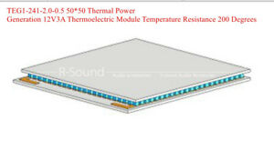 Teg1 241 2 0 0 5 50 50 Thermal Power Generation 12v3a Thermoelectric Module