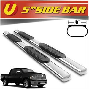 Fits 2010 2018 Dodge Ram 2500 3500 Crew Cab 5 Stainless Nerf Bars Side Steps
