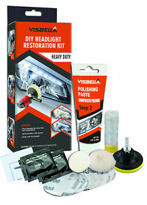 Visbella Headlight Restoration Kit Car Lamp Lens Cleaning Restoration