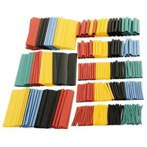 328pcs Cable Heat Shrink Tubing Sleeve Wire Wrap Tube 2 1 Assortment Kit Y9k6