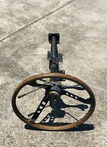 1970 1971 Datsun 240z Complete Steering Column Rosewood Wheel For Restoration