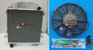 62mm 3 Row For Ford Model T Bucket Chevy Engine 1924 1927 Aluminum Radiator Fan