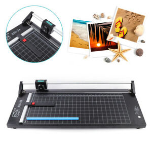 24 Manual Precision Rotary Photo Paper Cutter Trimmer Sharp Rolling Cutter New