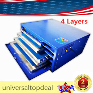 110v Silk Screen Drying Cabinet 4 Layers Screen Printing Equipment Unit 800w