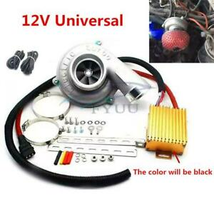 Durable Electric Turbo Supercharger Kit Air Filter Intake Engine Protection