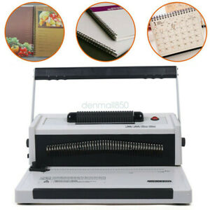 S20a Spiral Coil Punch Manual Coil Inserter Machine 46 Holes Binding Machine New
