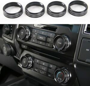 Black Air Conditioner Switch Knob Ring Cover Trim For Ford F150 Xlt 2016 2019