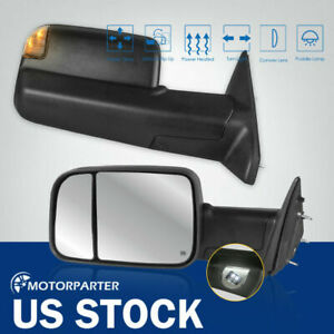 Tow Mirrors Power Heated Signal Puddle For 09 12 Ram 1500 2500 3500 5537207