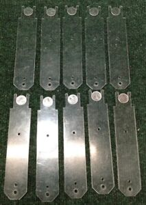 Lot Of 10 Key Register Security Tags 6 5 Inch 2 Prong Used