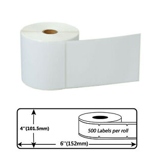 500 Labels Per Roll 4x6 Direct Shipping Postage Labels For Zebra Lp 2824 4 x6