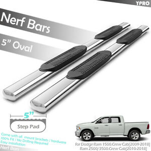 5 Nerf Bars Side Step For 2010 2020 Dodge Ram 2500 3500 Crew Cab Running Boards
