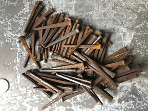 Vintage Lot Of 100 Square Cut Nails Unused Old Stock Some Rust 2 1 2